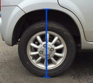 車高測り方 NG
