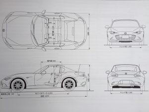 ロードスターRF 車体サイズ